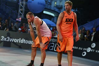#7 Bardet Olivier, Team Menton, FIBA 3x3 World Tour Lausanne 2014, Day 1, 29. August.