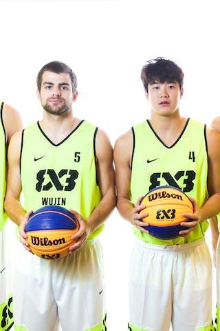 4 Dongyang Feng (CHN) - 6 Yuan Bo Zhu (CHN) - 7 Lu Yi Sang (CHN) - 5 Nikola Pesic (CHN)