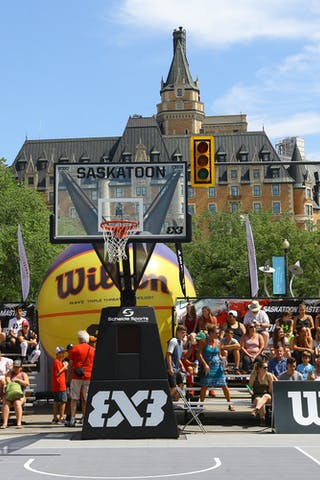 Entertainment, booths and outside of game action from the FIBA 3x3 World Tour Saskatoon 2017