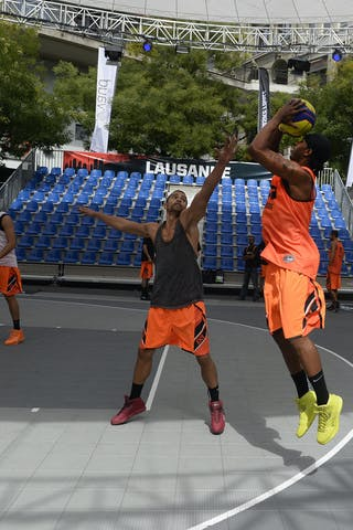 #5 Godfrey Phil shooting, Team Marburg, FIBA 3x3 World Tour Lausanne 2014, 29-30 August.