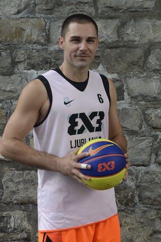 #6 Hercegovac Jasmin, Team Ljubljana, FIBA 3x3 World Tour Lausanne 2014, 29-30 August.