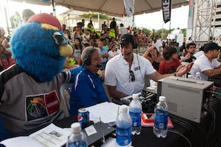 TV and mascot at the San Juan Masters 10-11 August 2013 FIBA 3x3 World Tour, San Juan, Puerto Rico