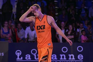 #7 Cresnar Blaz, Team Ljubljana, FIBA 3x3 World Tour Lausanne 2014, Day 1, 29. August.