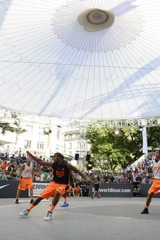 Full bleachers 2013 FIBA 3x3 World Tour Masters in Lausanne