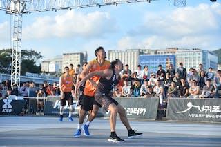 3 Tserenbaatar Enkhtaivan (MGL) - 2 Simon Finzgar (SLO) - FIBA 3x3 juej challenger