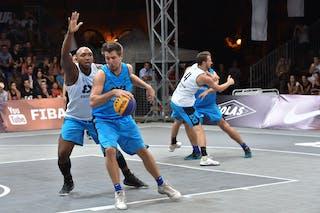 5 Dániel Koma (HUN) - 6 Sergio De Randamie (NED) - Amsterdam v Debrecen, 2016 WT Debrecen, Pool, 7 September 2016