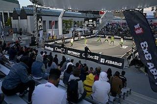 FIBA 3x3, World Tour 2021, Mtl, Can, Esplanade de la Place des Arts. Edmonton vs. Manila