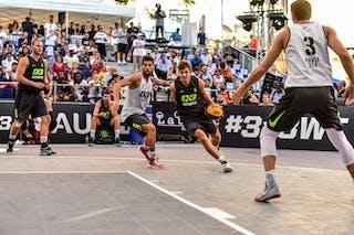 5 Dusan Sisic (SRB) - 2 Gionata Zampolli (ITA) - 3 Andrea Negri (ITA) - 3 Filip Simic (SRB) - Pavia v Obrenovac, 2016 WT Lausanne, Pool, 26 August 2016