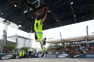 Dunk contest at the San Juan Masters 10-11 August 2013 FIBA 3x3 World Tour, San Juan, Puerto Rico. Day 2