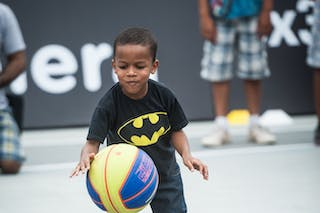 Entertainment, kid with a ball, FIBA 3x3 World Tour Rio de Janeiro 2014, Day 2, 28. September.