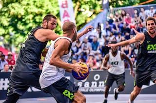 5 Dominique Gentil (FRA) - 6 Nikola Vujovic (SLO) - 5 Strahinja Mladenovic (SLO) - 3 Anthony Christophe (FRA) - Maribor v Paris, 2016 WT Lausanne, Pool, 26 August 2016