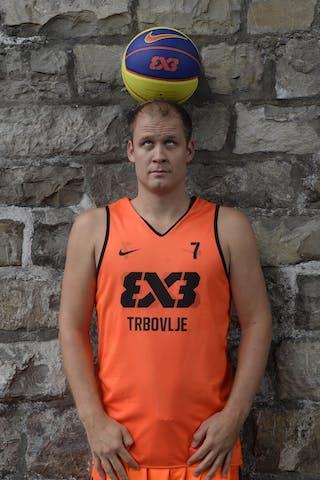 #7 Ovnik Gasper, Team Trbovlje, FIBA 3x3 World Tour Lausanne 2014, 29-30 August.