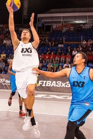 6 Derrick Lang (SUI) - 7 Yino Martinez (SUI) - 5 Dušan Popović (SRB)
