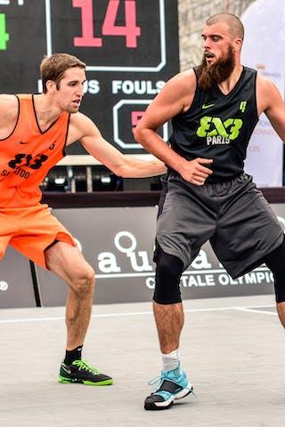 5 Michael Lieffers (CAN) - 4 Charles Bronchard (FRA) - Saskatoon v Paris, 2016 WT Lausanne, Pool, 26 August 2016
