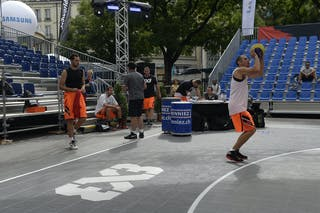 Kaliterna Duje, Team Split, Warming up, FIBA 3x3 World Tour Lausanne 2014, 29-30 August.