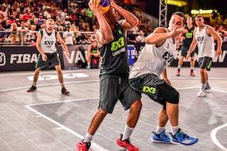 6 Oliver Vogt (SUI) - 5 Nikola Vukovic (SRB) - 4 Lazar Rasic (SRB) - 3 Bogdan Dragovic (SRB) - 4 Derrick Lang (SUI) - Zemun v Lausanne, 2016 WT Lausanne, Pool, 26 August 2016