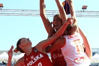 11 Jill Bettonvil (NED) - 7 Agnieszka Szott-hejmej (POL) - 13 Klaudia Sosnowska (POL)
