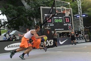 #4 Bjelica Dragan, Team Belgrade, FIBA 3x3 World Tour Lausanne 2014, day 1, 29. August.
