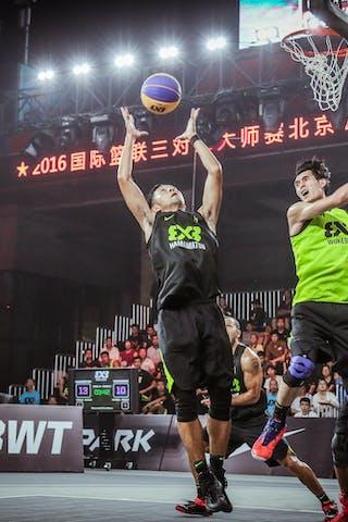 4 Qingbin Huang (CHN) - 3 Chihiro Ikeda (JPN) - Hamamatsu v Wukesong, 2016 WT Beijing, Pool, 16 September 2016