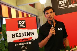 Ignacio Soriano, opening gala dinner, FIBA 3x3 World Tour Beijing 2014, 2-3 August.
