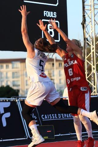 6 Martyna Cebulska (POL) - 5 Marie-eve Paget (FRA)