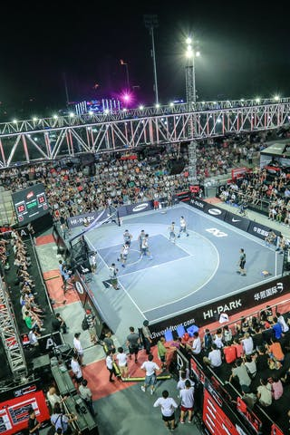 Court view, panorama of the court, 2014 World Tour Beijing, 3x3game, 3rd of August day 2.