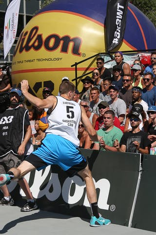 5 Michael Lieffers (CAN) - Saskatoon vs Gurabo in the FIBA 3x3 World Tour Saskatoon 2017 semi final