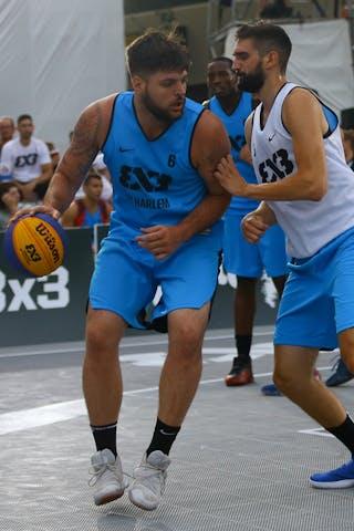 5 Marko Brankovic (SRB) - 6 Edis Dervisevic (USA) - Liman vs NY Harlem at FIBA 3x3 Saskatoon 2017