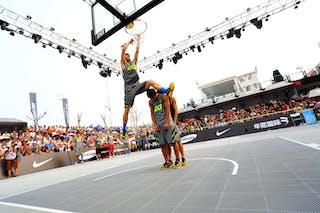 Dunk contest, FIBA 3x3 World Tour Beijing 2014, 2-3 August.