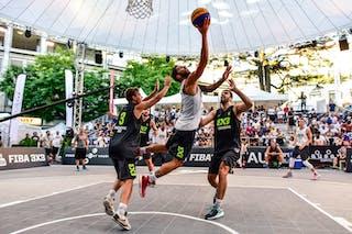 5 Damiano Verri (ITA) - 6 Vladimir Bulatovic (SRB) - 3 Filip Simic (SRB) - 2 Gionata Zampolli (ITA) - Pavia v Obrenovac, 2016 WT Lausanne, Pool, 26 August 2016