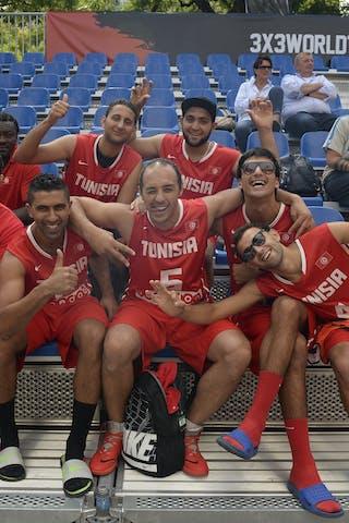 Team La Marsa and Team Monastir, FIBA 3x3 World Tour Lausanne 2014, 29-30 August.