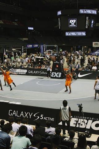 Court view, FIBA 3x3 World Tour Final Tokyo 2014, 11-12 October.