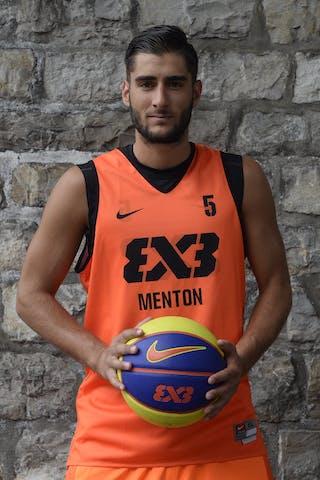 #5 Laurent Thomas, Team Menton, FIBA 3x3 World Tour Lausanne 2014, 29-30 August.
