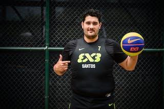 #7 Rojas Guilherme, Team Santos, FIBA 3x3 World Tour Rio de Janeiro 2014, 27-28 September.