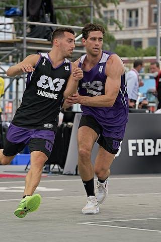 FIBA 3x3, World Tour 2021, Mtl, Can, Esplanade Place des Arts. QF 2- Antwerp vs. Lausanne