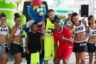 With Julian Newman at the San Juan Masters 10-11 August 2013 FIBA 3x3 World Tour, San Juan, Puerto Rico. Day 2