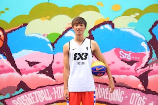 #4 Yang Qu, Team Xi'an, FIBA 3x3 World Tour Beijing 2014, 2-3 August.