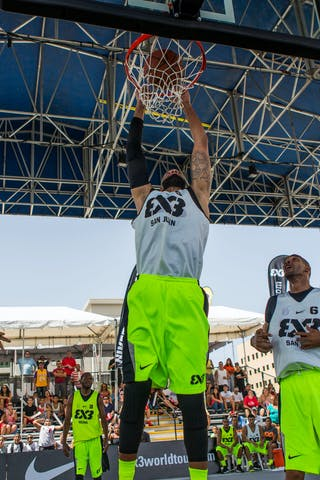 William Orozco (Team San Juan) jumped to the roof on Day 1 of the #3x3WT San Juan Masters.