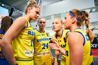24 Ancuţa Stoenescu (ROU) - 17 Alexandra Uiuiu (ROU) - 21 Ruxandra-diana Chis (ROU) - 11 Gabriela Irimia (ROU) - Game4_Pool A_Romania vs Mongolia