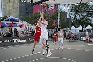 FIBA 3x3, World Tour 2021, Montréal, Canada, Esplanade de la Place des Arts. Women POLAND VS CANADA
