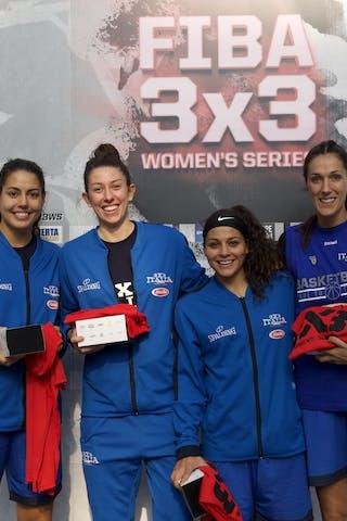 15 Arianna Zampieri (ITA) - 8 Giulia Rulli (ITA) - 5 Marcella Filippi (ITA) - 2 Raelin Marie D'alie (ITA)