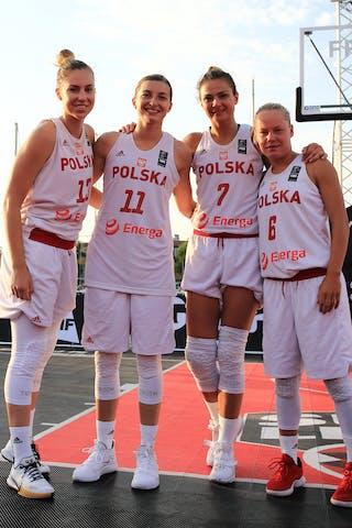 11 Aldona Morawiec (POL) - 7 Agnieszka Szott-hejmej (POL) - 13 Klaudia Sosnowska (POL) - 6 Martyna Cebulska (POL)