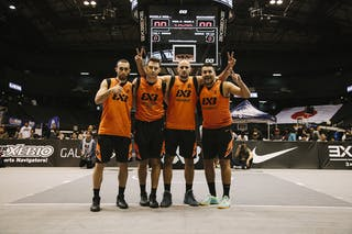 Team Bucharest, team photo, FIBA 3x3 World Tour Final Tokyo 2014, 11-12 October.