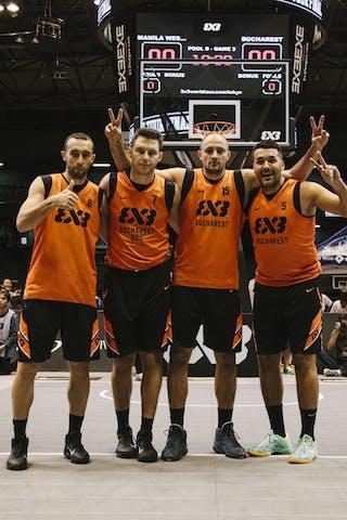Team Bucharest, team photo, FIBA 3x3 World Tour Final Tokyo 2014, 11-12 October.