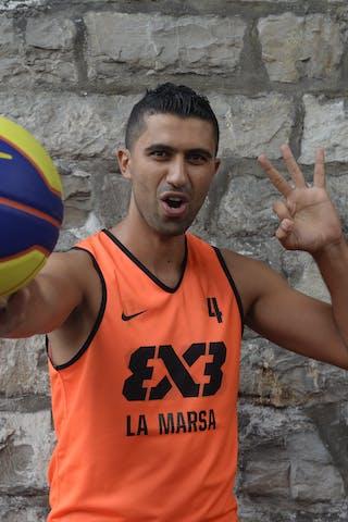 #4 Bousetta Slim, La Marsa, FIBA 3x3 World Tour Lausanne 2014, 29-30 August.