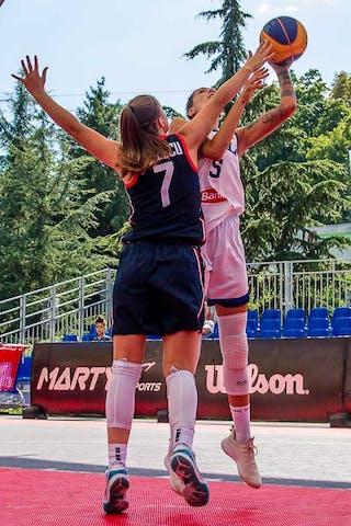 7 Sabrina Ionescu (USA) - 5 Marcella Filippi (ITA)