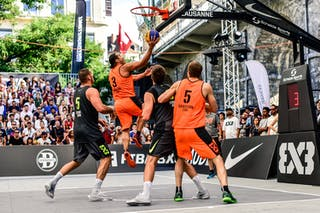 6 Nemanja Draskovic (SRB) - 5 Nikola Vukovic (SRB) - 3 Michael Linklater (CAN) - 5 Michael Lieffers (CAN) - Saskatoon v Zemun, 2016 WT Lausanne, Last 8, 27 August 2016