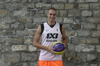 #7 Welling Nicolas, Team Dusseldorf, FIBA 3x3 World Tour Lausanne 2014, 29-30 August.