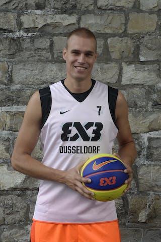 #7 Welling Nicolas, Team Dusseldorf, FIBA 3x3 World Tour Lausanne 2014, 29-30 August.