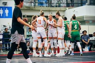 18 Fleur Kuijt (NED) - 11 Jill Bettonvil (NED) - 9 Esther Fokke (NED) - 3 Loyce Bettonvil (NED) - Game3_Pool B_Netherlands vs Australia
